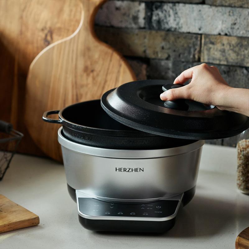[헤르젠] 멀티쿠커 요리기 무수분 저당밥솥 만능쿠커 전기찜기 (무료배송) 이미지
