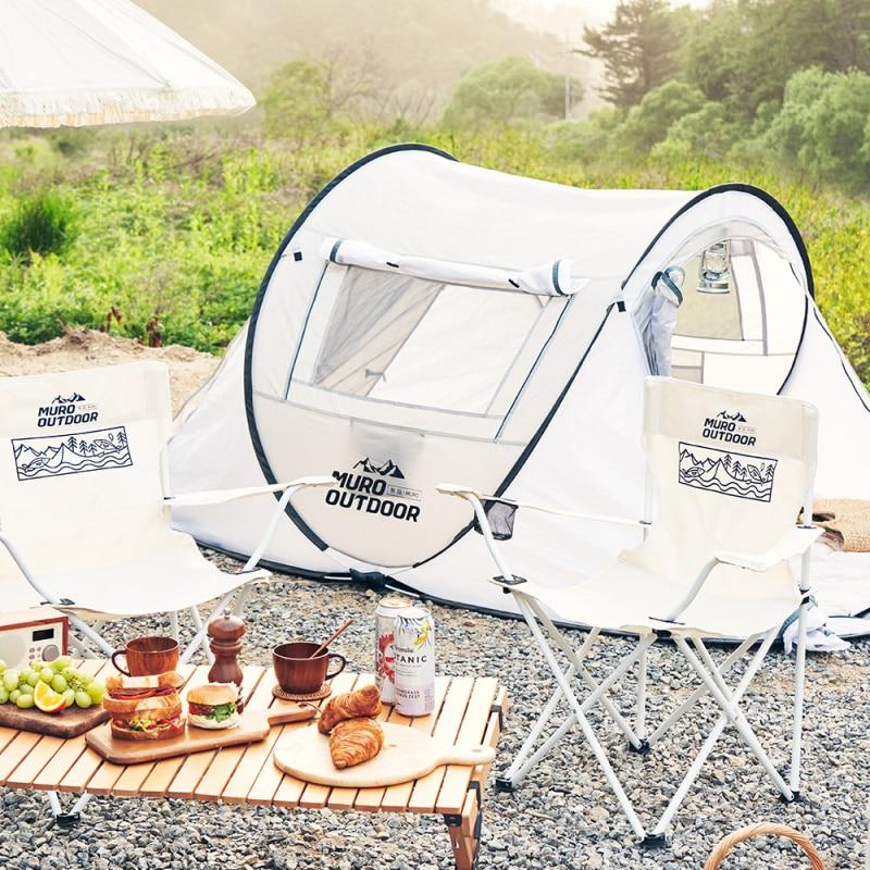 [무로] 아웃도어 원터치 텐트 1개 : 캠핑용품/차박/팝업텐트 이미지